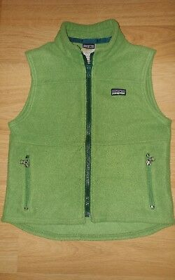 Patagonia Vest Full Zip Green Youth X-Small Front Zip Pockets