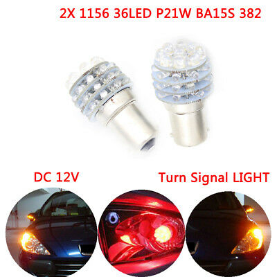 2X White 1156 P21W BA15S 382 36LED Turn Stop  Tail Indicator Car Light Bulb 12V