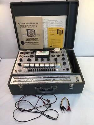 Vintage Precision 10-60 Electronamic Tube Tester With Manual Paperwork Powers On