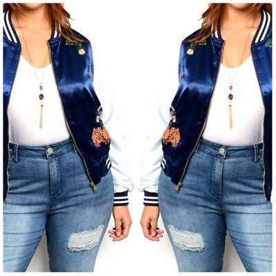 Favorite Girl Style Wholesale Womens Plus Size Navy White Bomber Jacket 3 Pcs