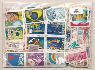 Brazil US 500 stamps different
