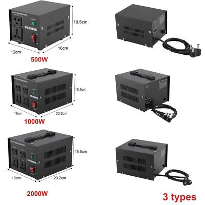 500W 1000W 2000W Voltage Converter Transformer  Step Down/ Up 230V-110V TT