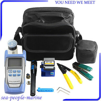 Reliable Fiber Optic FTTH Tool Kit Set Power Meter FC-6S Optical Cleaver Finder