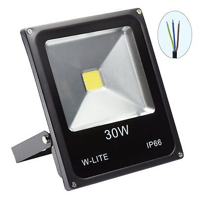 W-LITE 30W Super Bright Outdoor LED Waterproof Security Lights