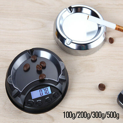 0.01g-500g Ashtray Pocket Scale Mini Digital LCD Weigh Electronic Gold Jewellery