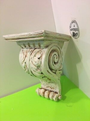 Antique Finish Shelf Acanthus Leaf Plaster wall Corbel Scone Bracket 9.5''tall