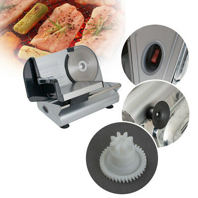 """Commercial Electric Meat Slicer 7.5"""" Blade 150w 0-15mm Thick Deli Food Cutter CE"""