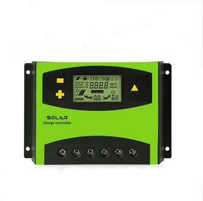 LCD 40A 50A 60A PWM 12V 24V Solar Controller Panel Battery Charge Regulator