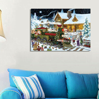 Hot Christmas Full Drill 5D Diamond Painting Embroidery Cross Stitch Kit 40*30cm