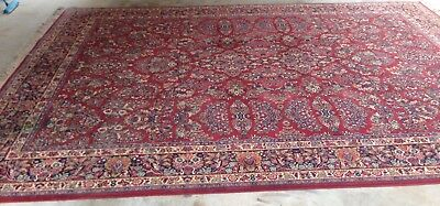 "Authentic Karastan Rug 10x14 great condition, ""red Sarouk"" pattern."