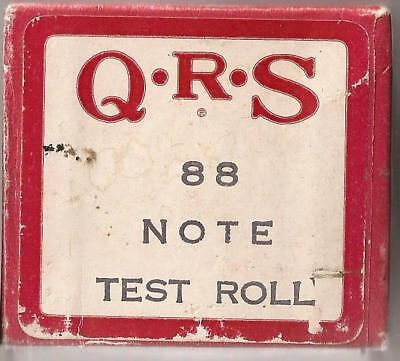 Pianola roll QRS 88 note Test roll