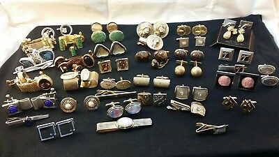 Large Very Nice Vintage Cufflink Lot Some Wraps Please See Close Ups