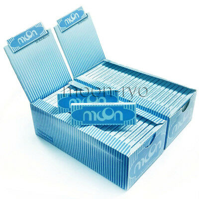 """Moon Blue 1.0"""" 100 booklets 70*36mm Cigarette Tobacco Rolling Papers Rice Papers"""