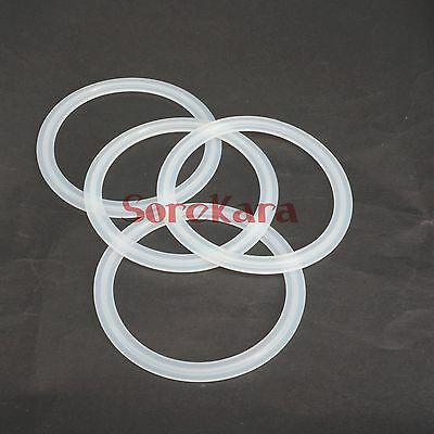 """LOT 5 Fit 102mm Pipe OD 4"""" Tri Clamp Sanitary Silicon Sealing Gasket Homebrew"""