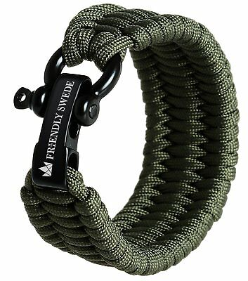 The Friendly Swede Trilobite Extra Beefy 500 lb Paracord Survival Bracelet with