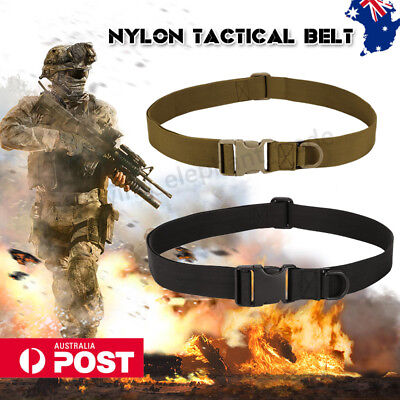 Tactical Military Belt Unisex Army Hunting Outdoor Utility Combat Waistband AU