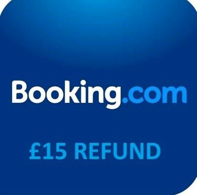Free! Booking.com £15 Off Hotel Room Reward Voucher Coupon Credit Discount Code