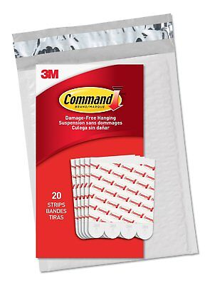 Command Large Refill Strips, White, 20-Strips, (GP023-20NA) - Easy to Open