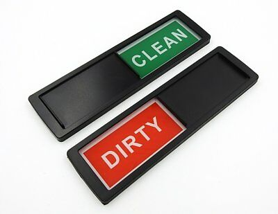 Dishwasher Clean Dirty Magnet Sign Indicator in Black for All Dishwashers.