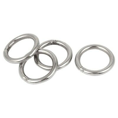 4 Pcs M4 x 30mm 201 Stainless Steel Strapping Welded Round O Rings U5M7
