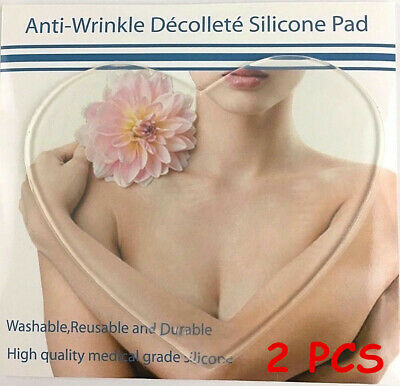 2PCS Chest Breast Wrinkles Decollete Pad Anti-Ageing Neck & Cleavage Firming UK