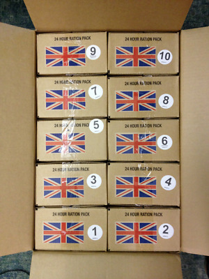 British Army 24 hr Ration Packs chose 1 from Menu A & B 1-20 BBF2013- 2016-2019