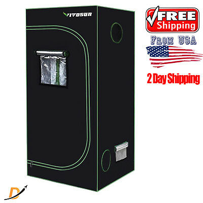 "36""x36""x72"" Mylar Hydroponic Grow Tent Room Kit Complete Indoor System Plant Box"