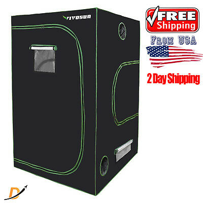 "48""x48""x80"" Mylar Hydroponic Grow Tent Room Kit Complete Indoor System Plant Box"