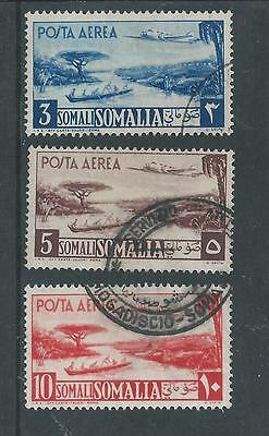 Somalia - 1950 Airmails - 3 Different High values postally used