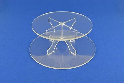 2 Tier Cup Cake Muffin Tea Cake Afternoon Tea Display Stand 5mm Clear Acrylic