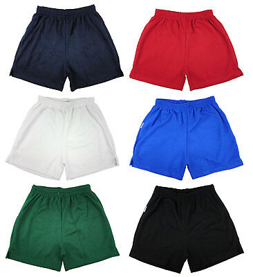 Mens Boys Girls Unisex Mesh Shorts Gym Football Sports Games School PE Shorts