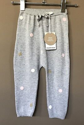 Country Road BabyGirl Spot Knit Pants Size 6-12 Months RRP$49.95