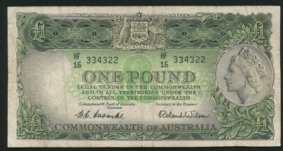 Australia 1953 QEII £1 Coombs-Wilson Commonwealth Bank R-33 Avg Circ