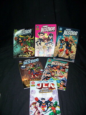Batch of comics 6 tomos YOUNG JUSTICE good condition