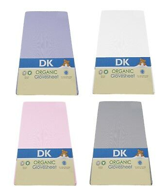 DK Glovesheets GOTS Organic Cotton Fitted Sheet To Fit Boori Cotbed 132x77cm
