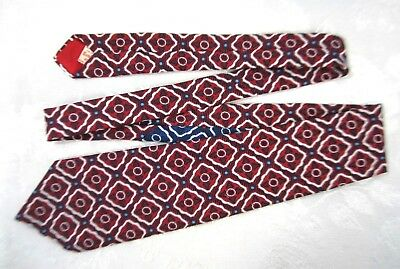 Vintage London 400 Tie 1970s Red Navy White Robin's Egg Blue Made in USA