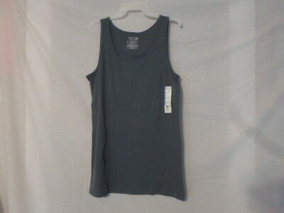 cfe66f9ffd512 NWT WOMEN S INSIGNIA Blue Rib Tank Top by Time and Tru Size XSmall 0-2 -   2.95