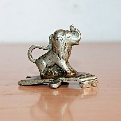 Old 1930's Antique Beautiful Handmade Fine Cast Brass Collectible Lion Figure#74