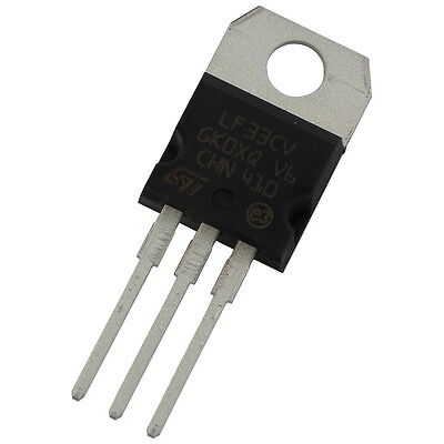 2 LF33CV STM Spannungsregler +3,3V 1A Low Drop Voltage Regulator TO-220 856016