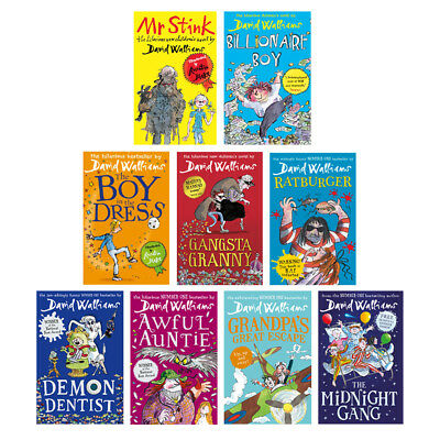 David Walliams Collection Book Pack of 9 Books (RRP £62.91)