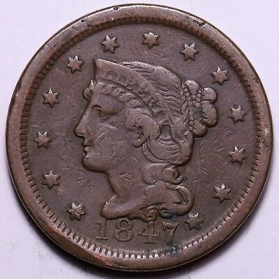 1847 Braided Hair Large Cent                    R10ZCC