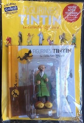 TINTIN Tournesol en patins Collection officielle figurine n°57 Neuf sous blister