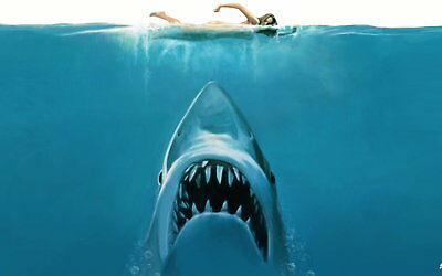 72811 Jaws 1975 Horror Drama Steven Spielberg Movie Wall Print Poster UK