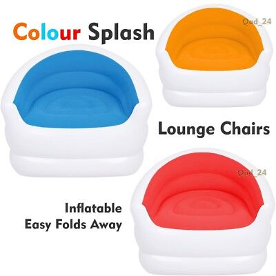 Miraculous Colour Splash Lounge Chair Seat Inflatable Couch Sofa Short Links Chair Design For Home Short Linksinfo