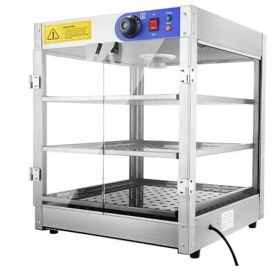 3-Tier 110V Commercial Countertop Food Pizza Warmer 750W Pastry Display Case