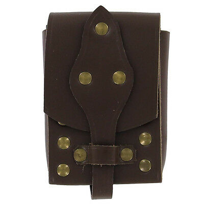 Medieval Handmade Tanners Dream Leather Biker Studded Belt Pouch