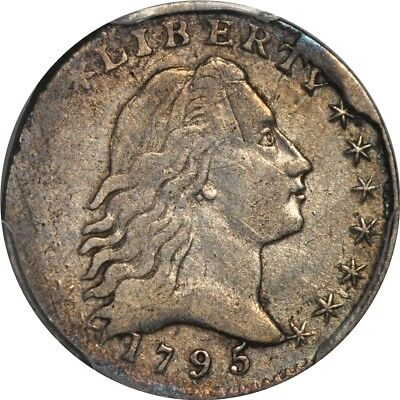 1795 H10C Flowing Hair Half Dime PCGS VF Details - Edge damage