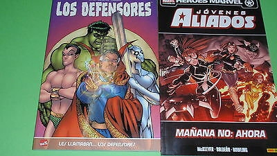 Two comics- YOUNG ALLIES y LOS defenders-very good condition