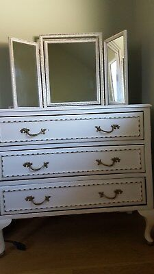 Chest of drawers in Louis XV French style with mirror