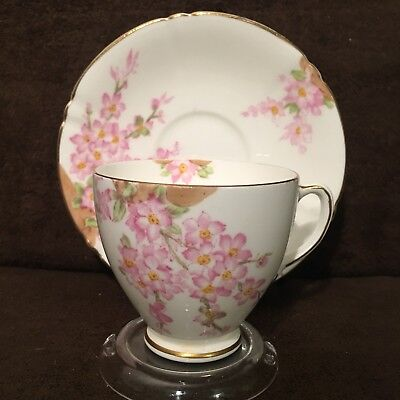 "SALE- Blowout Clearance -Old Royal Bone China ""Glorious Devon"" Teacup and Saucer"